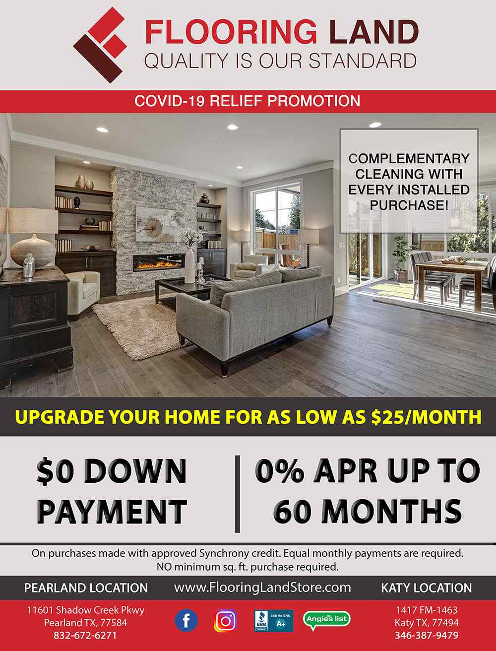 PROMOTIONS -$0 Down Payment - 0% APR Financing up To 60 Months